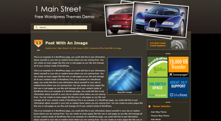 Auto Blog Free Wordpress Theme