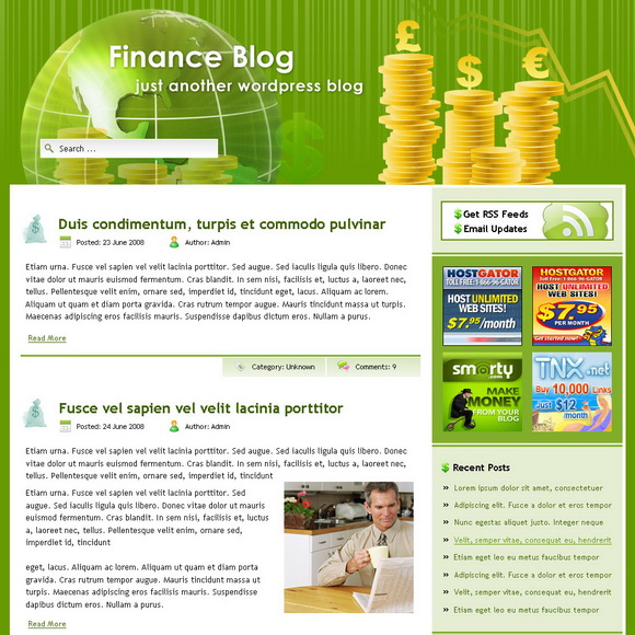 Finance Blog WordPress Theme