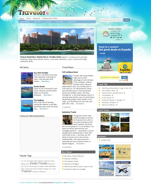 Travel Magazine WordPress Theme
