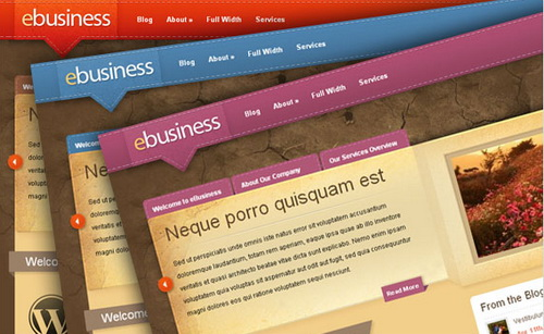 eBusiness WordPress Theme (Earthen)