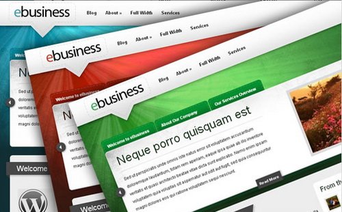 eBusiness WordPress Theme (Radiate)