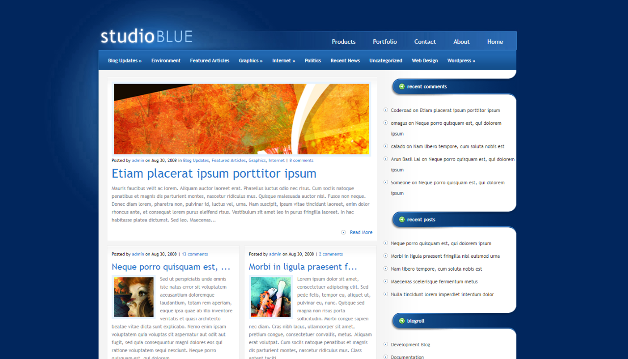 Read more about the article StudioBlue WordPress Theme