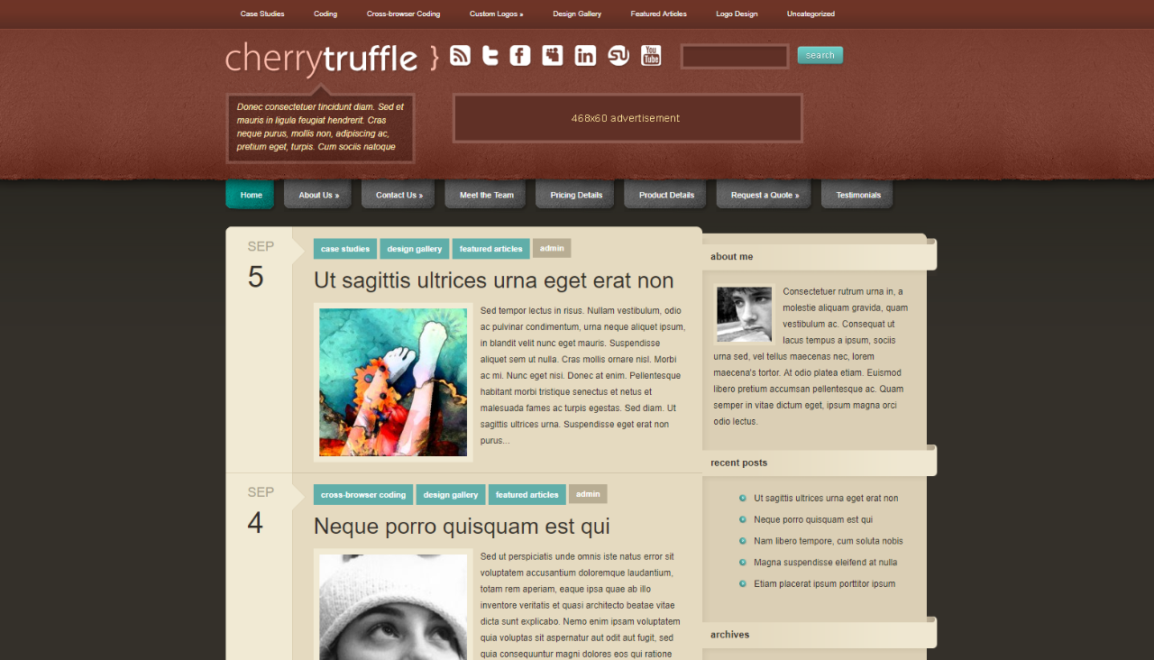 Cherry Truffle WordPress Theme