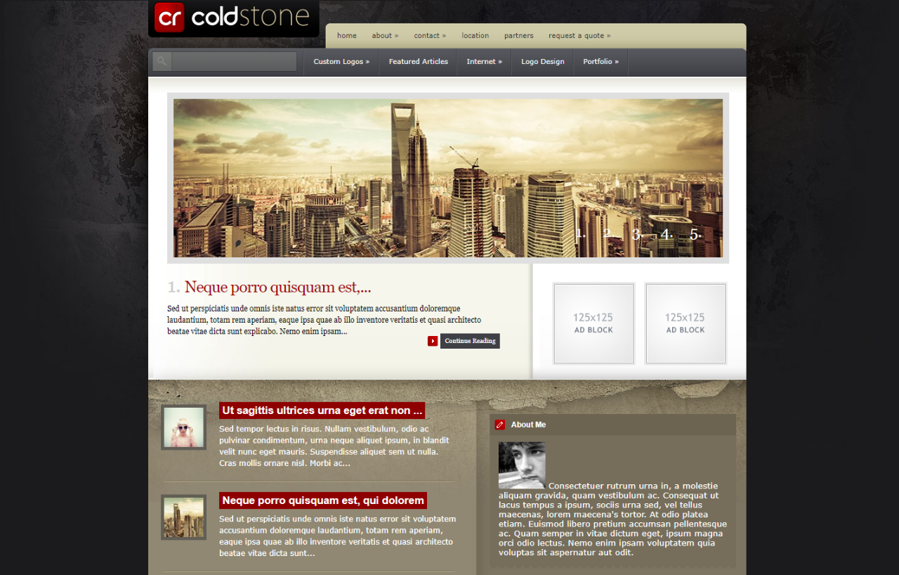 Cold Stone WordPress Theme